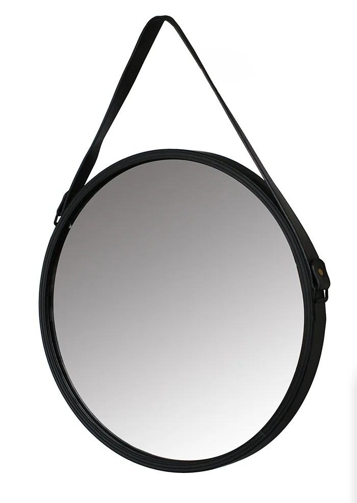 miroir rond barbier noir diam 41 cm