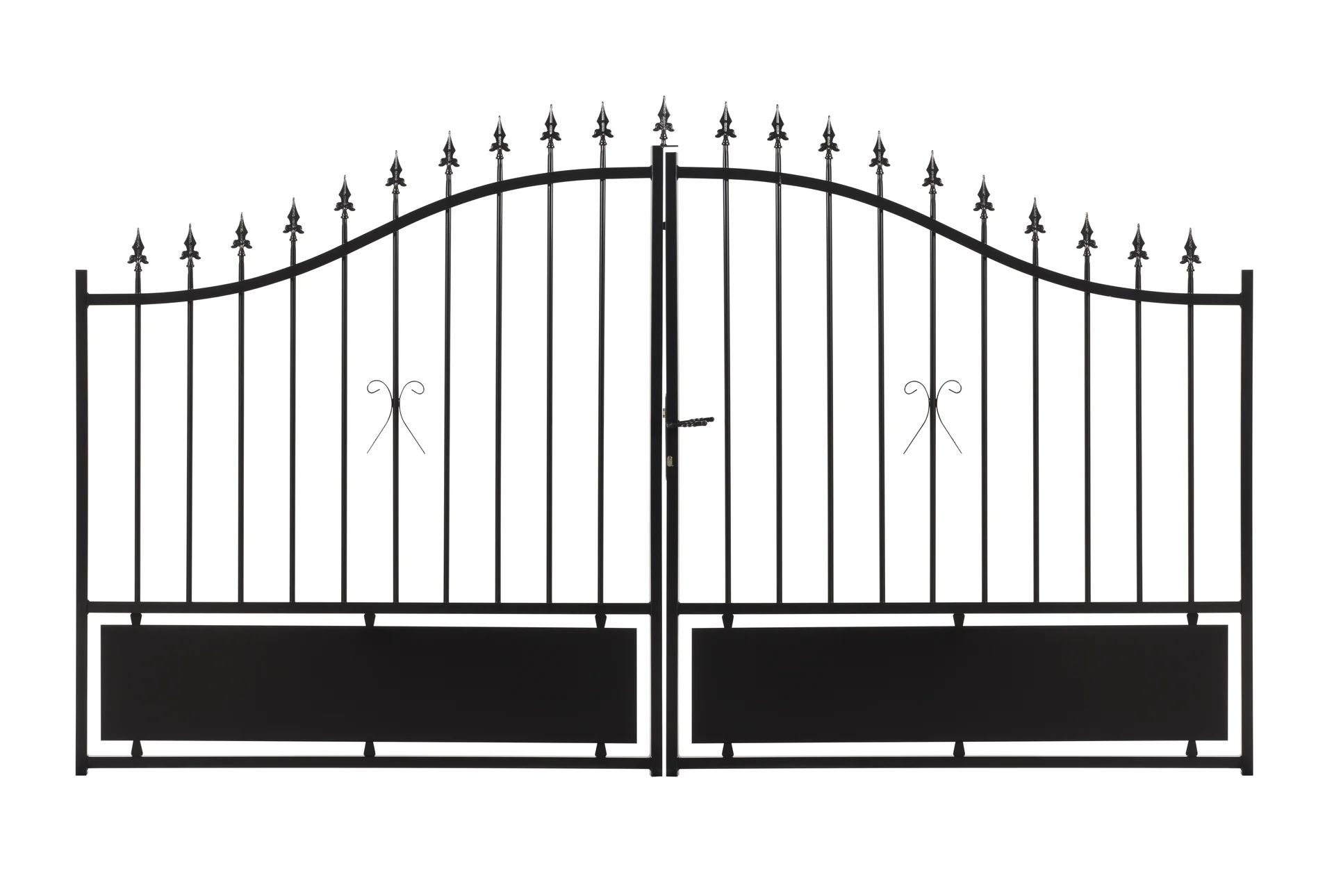 Portail Battant Acier Noir Bas Plein A Peindre Sarce L 300x H 176 Cm Leroy Merlin
