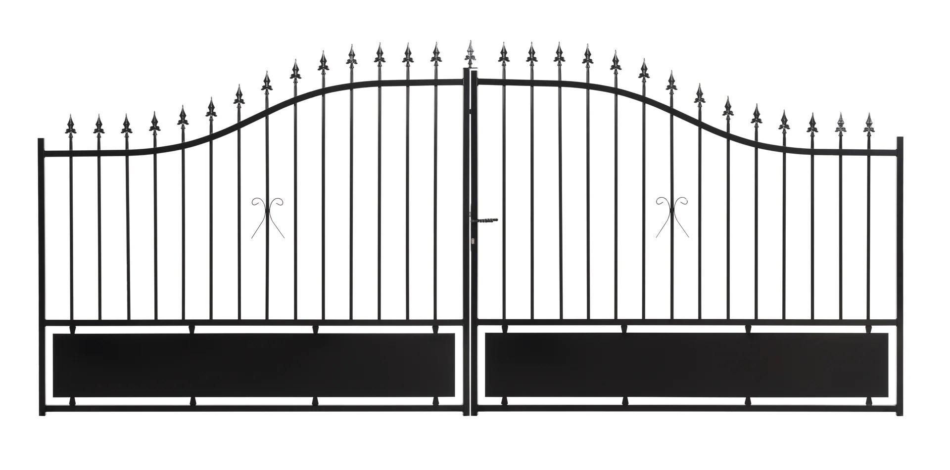 Portail Battant Acier Noir Bas Plein A Peindre Sarce L 400x H 176 Cm Leroy Merlin