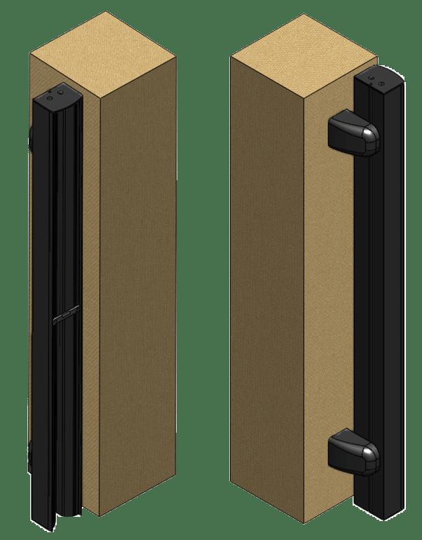 Profil De Reception Pour Portail Coulissant En Aluminium Noir L 8 X H 200 Cm Leroy Merlin