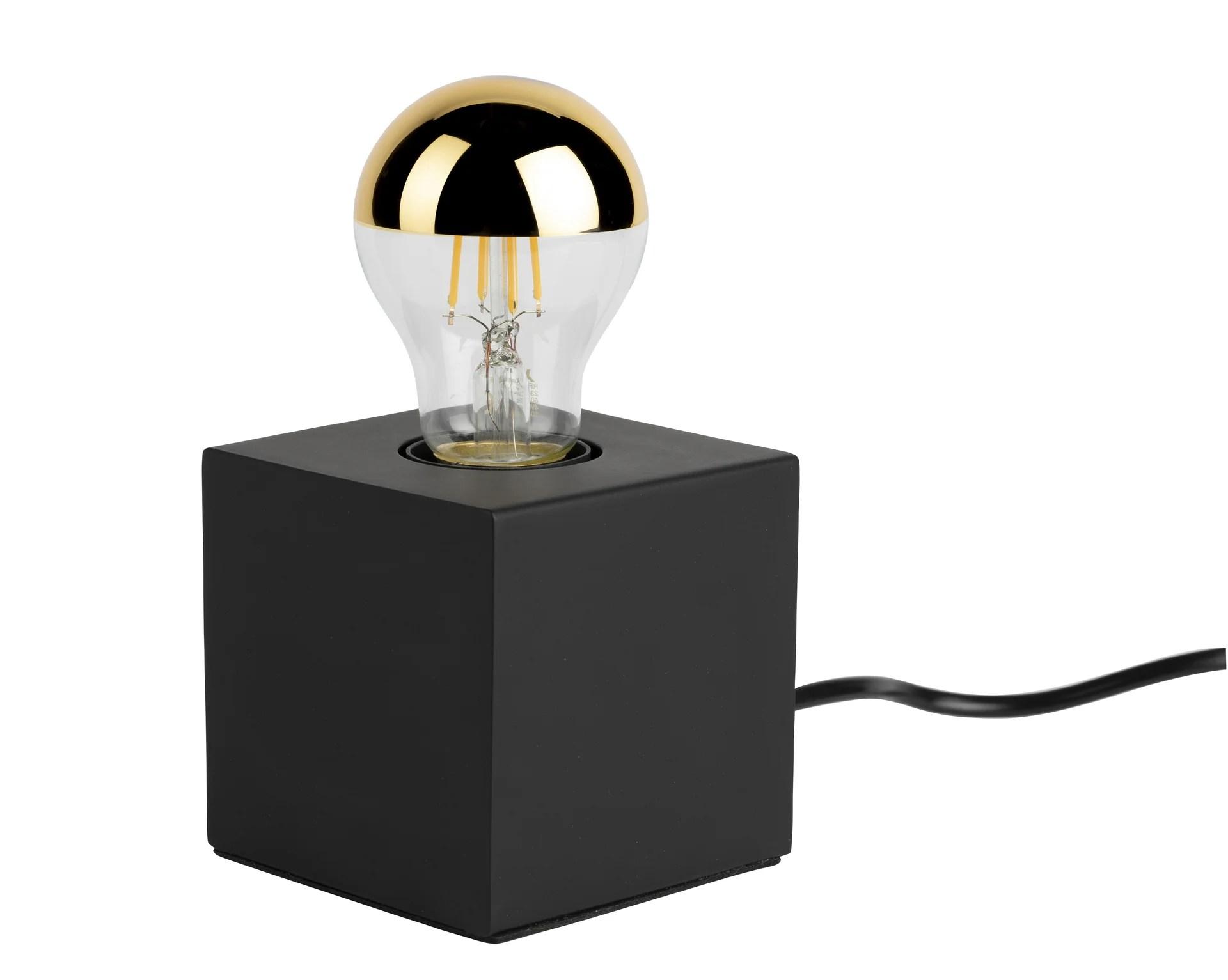 Lampe Moderne Metal Noir Mat Tactile Mathias Ludvig Leroy Merlin