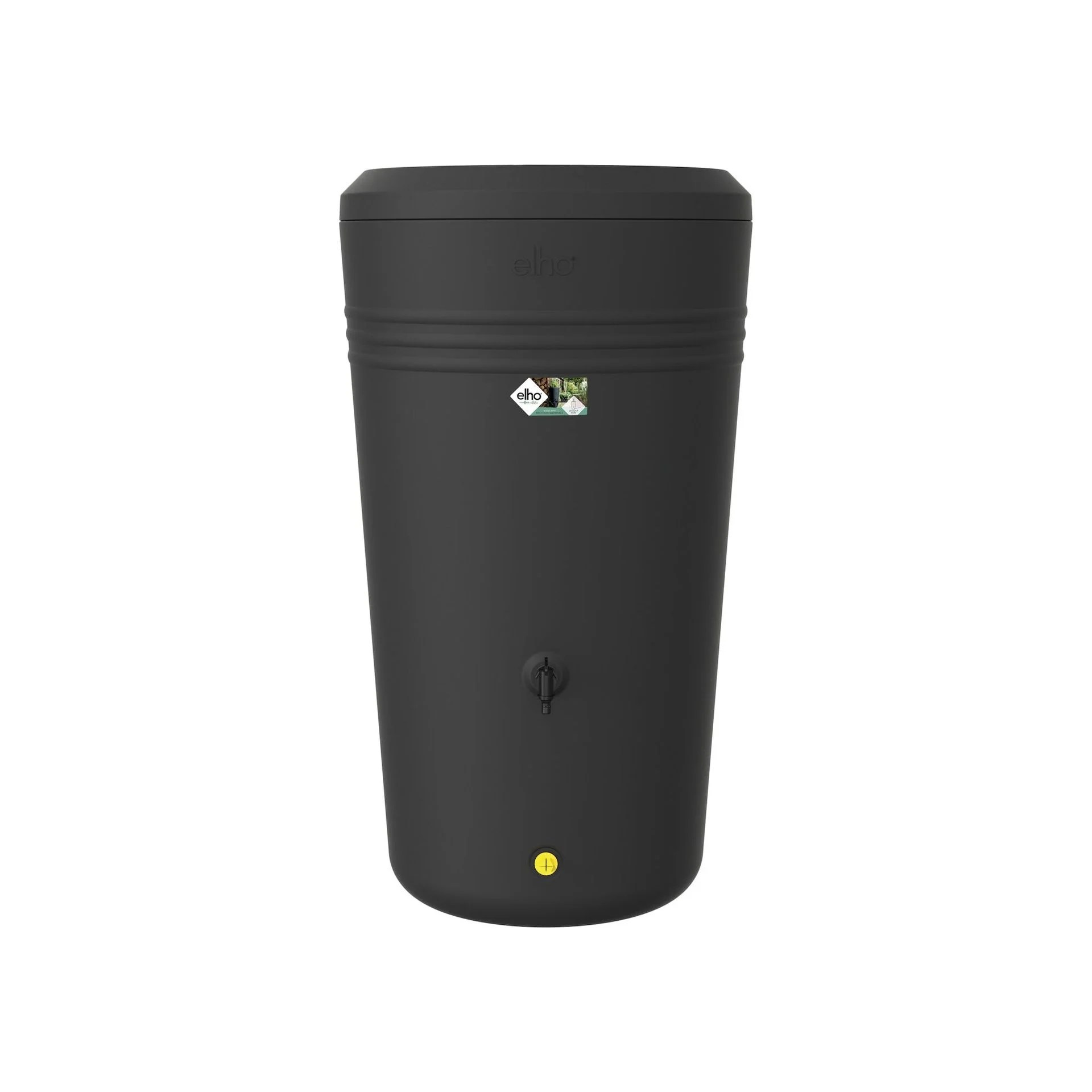 Recuperateur D Eau De Pluie Elho Green Basics Living Noir 200 L Leroy Merlin