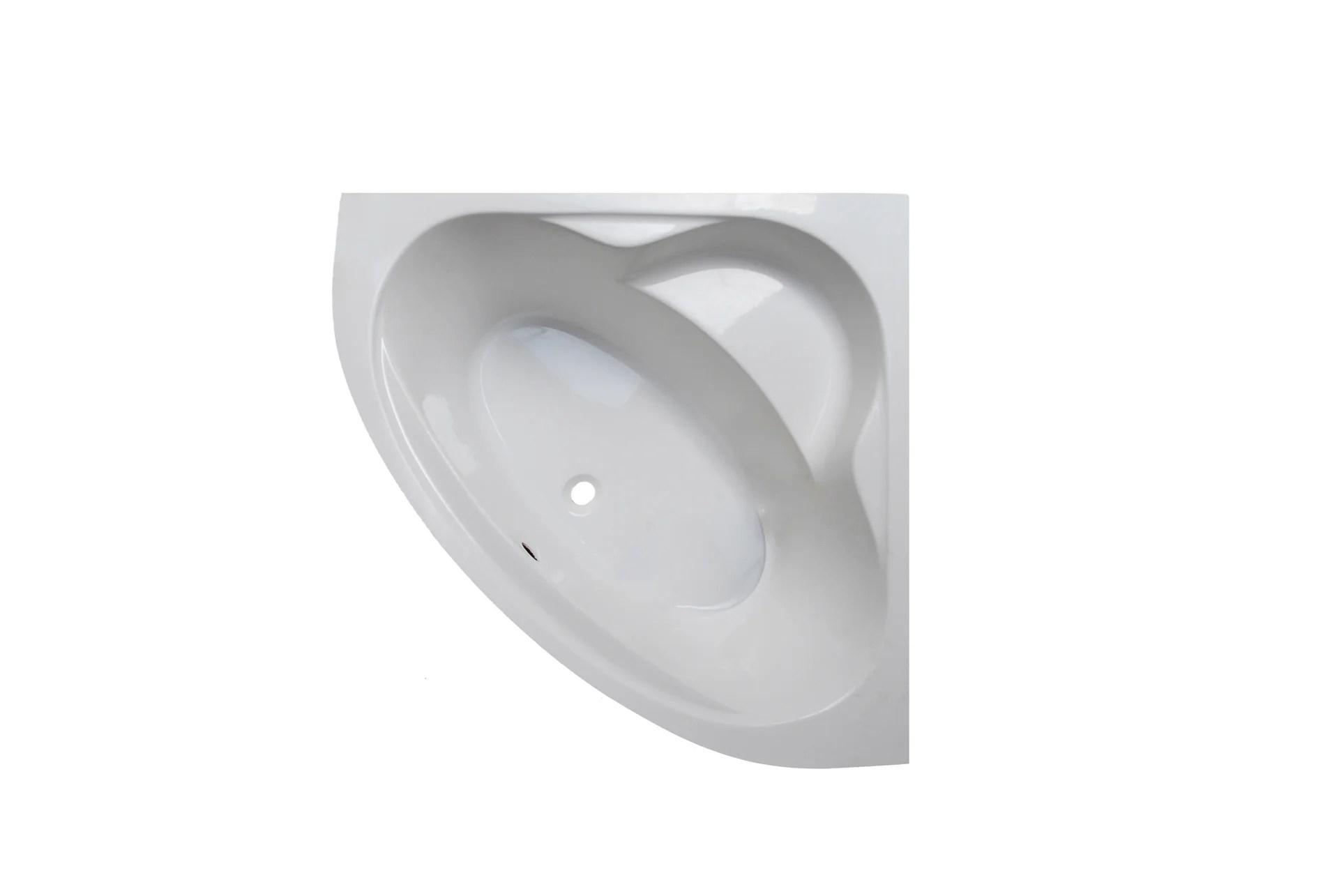 baignoire d angle l 130x l 130 cm blanc sensea access confort