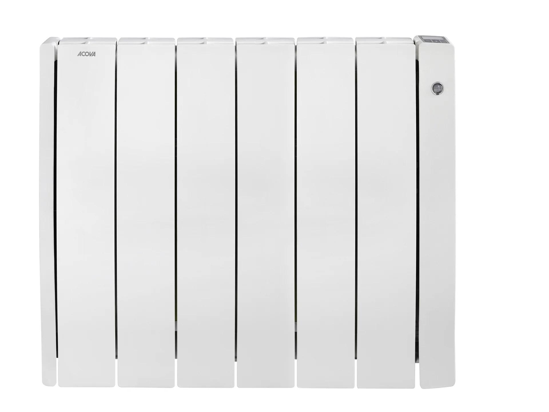 Radiateur Electrique A Inertie Seche 1500 W Acova Taffetas 2 Connecte Blanc Leroy Merlin