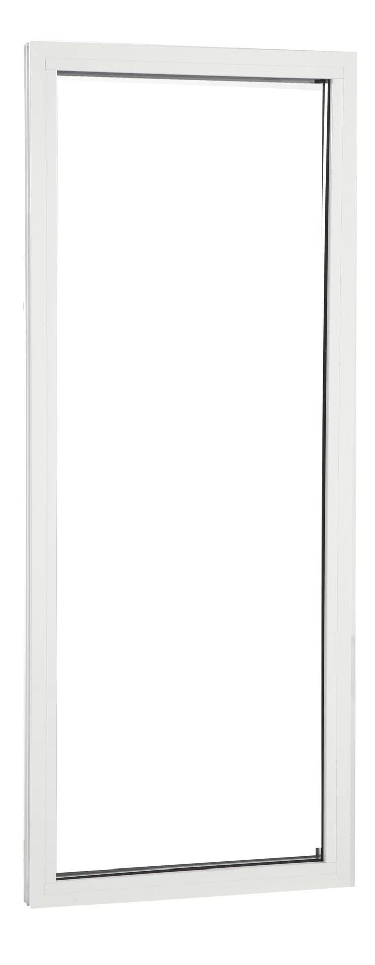 fenetre fixe aluminium 60x150 cm blanc fixe sans ouverture