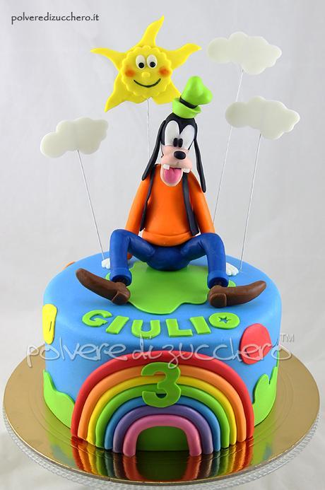 Torta Pippo Della Disney In Pasta Di Zucchero Per Il