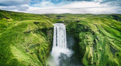 przyroda, ekologia, wodospad, eko człowiek