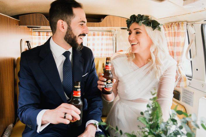 Fotógrafos de bodas en Asturias, vestidos de Lucia Incera