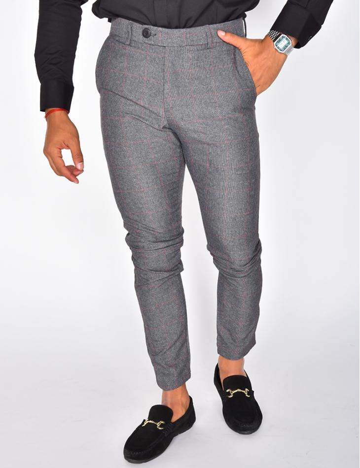 pantalon homme a carreaux 36069 jeans industry