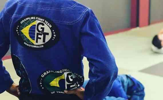 back photo of coach pikes gi with gfteam logo