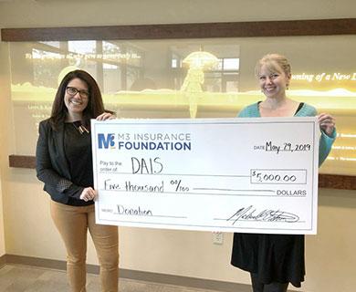M3 donation to DAIS