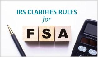 FSA Rules - IRS Clarification