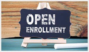 Open Enrollment Written on Chalkboard