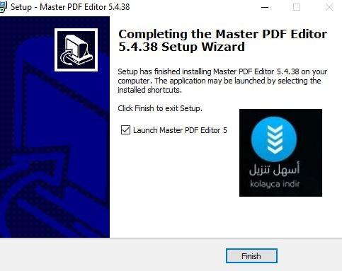 ماستر بي دي اف اديتور للتعديل على ملفات الـPdf على الكمبيوتر