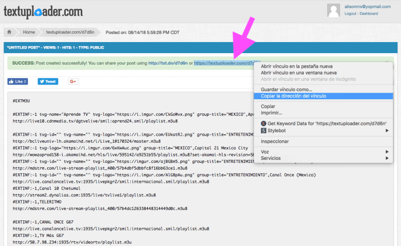 crear listas m3u online funcionales vip