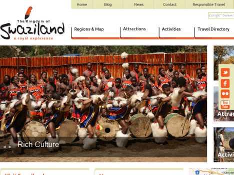 斯威士蘭王國旅游局 www.welcometoswaziland.com
