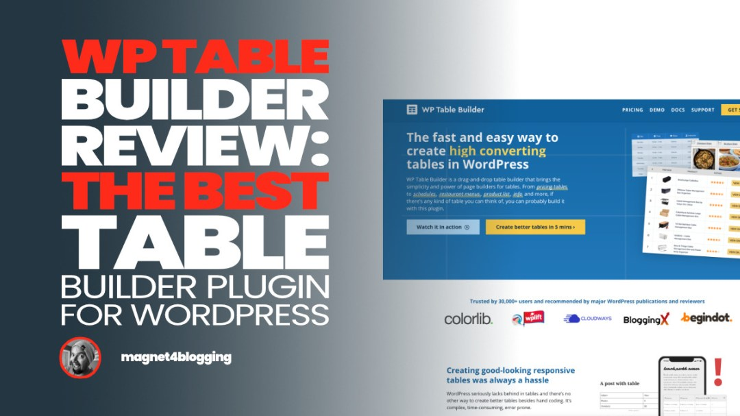 WP Table Builder Review + Pro Addon: Best Table Builder Plugin For WordPress