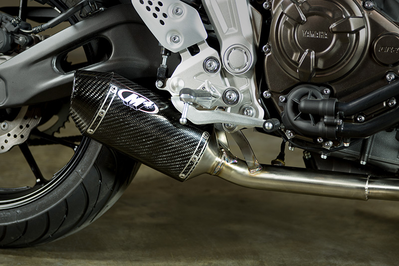 2015 18 yamaha fz 07 slip on carbon shop m4 exhaust