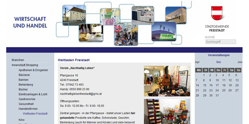Gemeinde Freistadt – Wirtschaft/Handel
