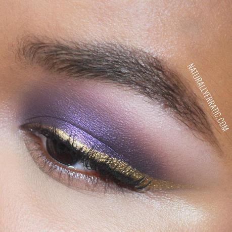 Violet Smokey With Gold Eyeliner Makeup Tutorial Paperblog