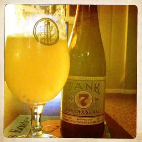 Beer Review Boulevard Brewing Tank 7 Farmhouse Ale