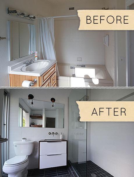 Small Modern Bathroom Remodel Before Amp After Paperblog