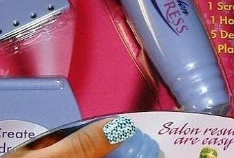 Review As Seen On Tv Salon Express Nail Sting Kit Paper