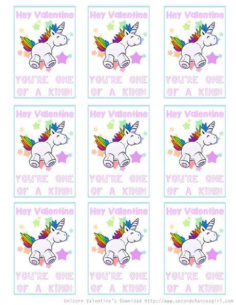Free Printable Unicorn Valentine Cards Paperblog
