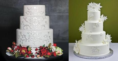 Snowy White Winter Wedding Cake Ideas Paperblog