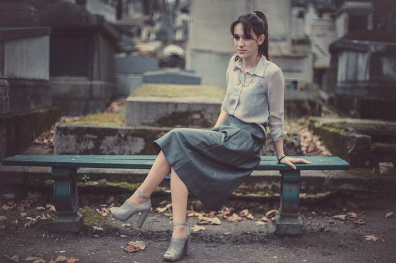 My Style Leather Skirt Look Paperblog