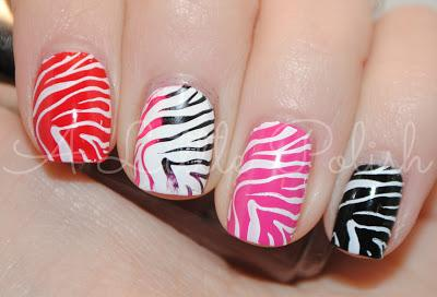 February Nail Art Challenge Animal Print Paper Essence Manicure Transfer Solution