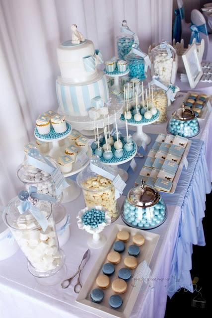 A Combined Christening And 1st Birthday By 3s A Party Candy Buffet And Party Supplies Paperblog
