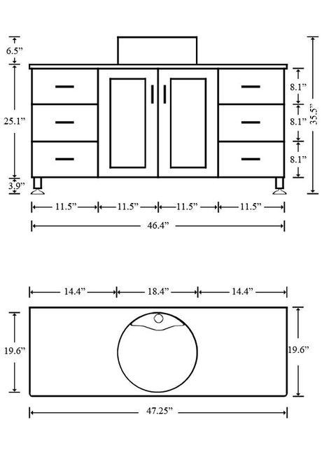 Bathroom Sinks Dimensions bathroom vanity dimensions.wood bathroom vanity 3 double sink