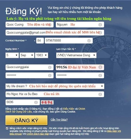 Hướng dẫn đắng ký M88 tại Việt Nam