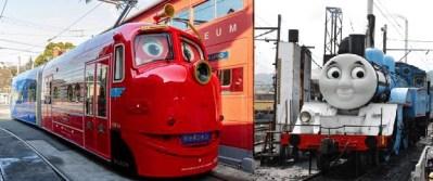 アニメのキャラが現実に?「機関車トーマス」と「チャギントン」のウィルソンが日本を走る!