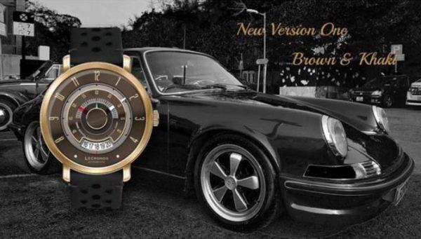 「LECRONOS」 ヴィンテージ車好きには、たまらない時計! ヴィンテージスポーツカーのタコメーターがモデル