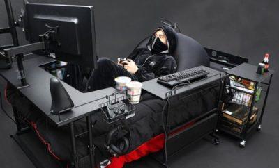 最強のゲーム家具!ゲーム、食事、睡眠のすべてが完結…