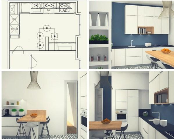 Plan et 3D cuisine, aménagement de cuisine