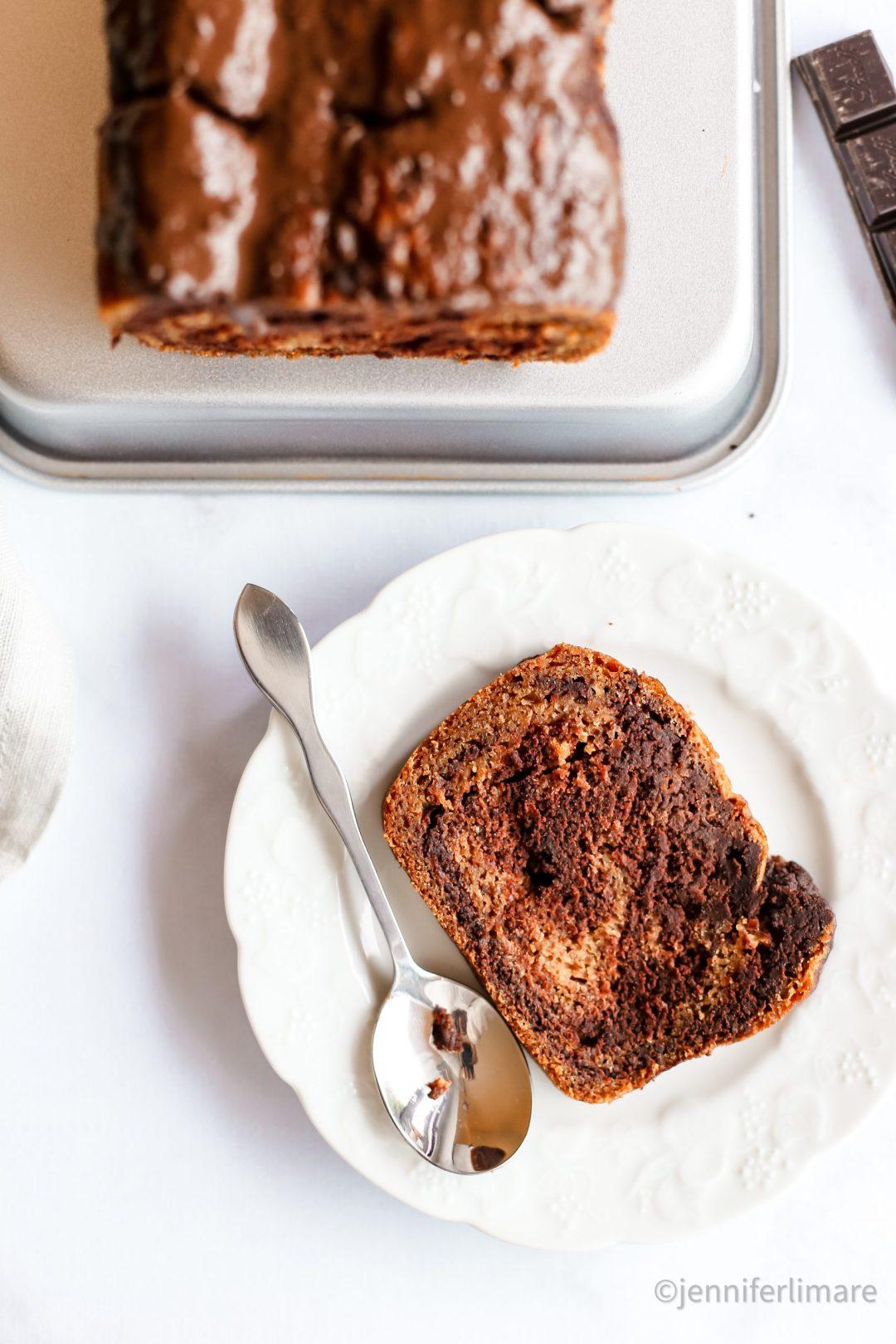Gâteau marbré sans gluten vegan 2