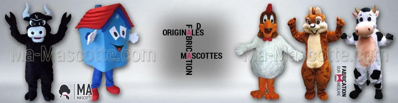 FABRICATIONS ORIGINALES DE MASCOTTES SUR MESURE PERSONNALISÉES