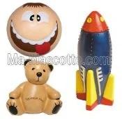 Fabrication Sur Mesure exemple forme antistress (figurine objets publicitaires sur mesure).