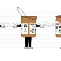Création Graphique Sur Mesure pot de caramel (création graphique sur mesure).