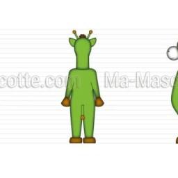 Création Graphique Sur Mesure girafe verte (création graphique sur mesure).