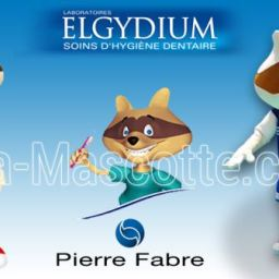 Fabrication Mascotte Sur Mesure raton ELGYDIUM PIERRE FABRE (mascotte animal sur mesure).