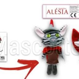 Fabrication Peluche Sur Mesure chat ALESIA (peluche animal sur mesure).