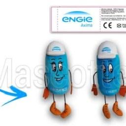 Fabrication Peluche Sur Mesure personnage ENGIE (peluche personnage sur mesure).