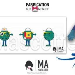 Fabrication Mascotte Sur Mesure smiley OPTICIENS MUTUALISTES (mascotte objet sur mesure).