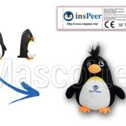 Fabrication Peluche Sur Mesure pingouin INSPEER (peluche animal sur mesure).