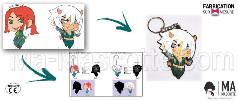 Custom Made PVC Keychain girl character (custom keychain).