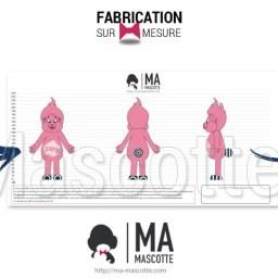 Fabrication Mascotte Sur Mesure personnage BARBA'BLABLA (mascotte personnage sur mesure).